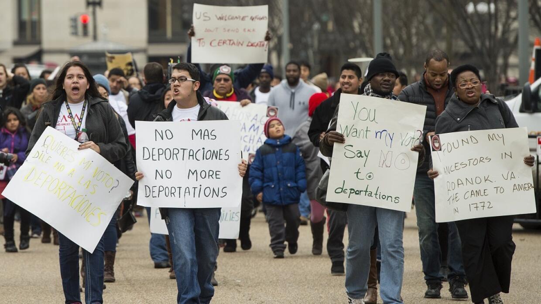 Protesta contra deportaciones en Washington