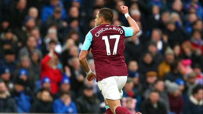 A pesar del golazo del 'Chicharito', West Ham cayó en su visita al Brighton
