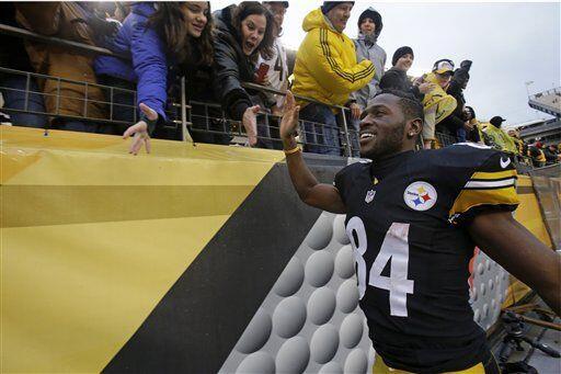 Antonio Brown, receptor de los Pittsburgh Steelers (AP-NFL)