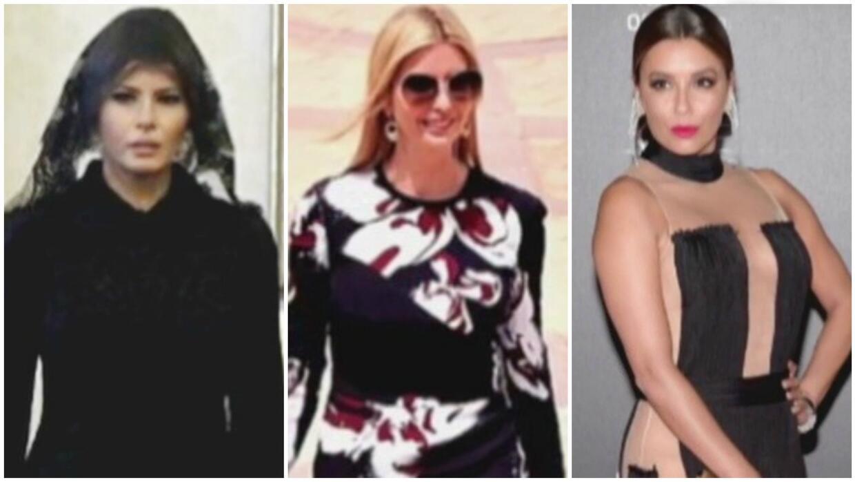 Melania, Ivanka Trump y Eva Longoria, las mejores vestidas de la semana