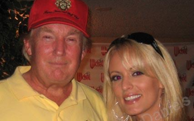 Trump y Stephanie Clifford en una foto de archivo de Myspace.