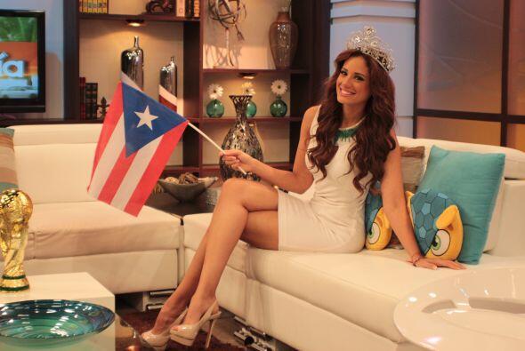 Aleyda muy orgullosa de ser puertorriqueña, y lo dejó muy claro.