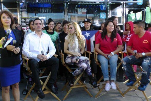 Noelia y su esposo Jorge participaron en un segmento.