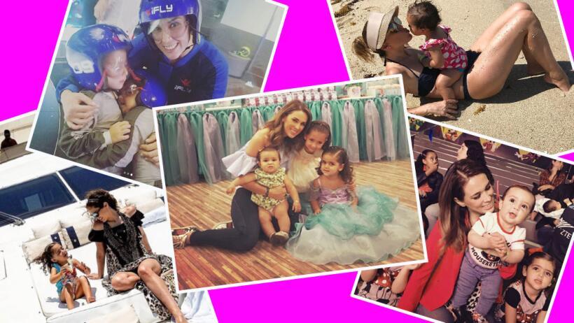 Jacqueline Bracamontes y sus hijas