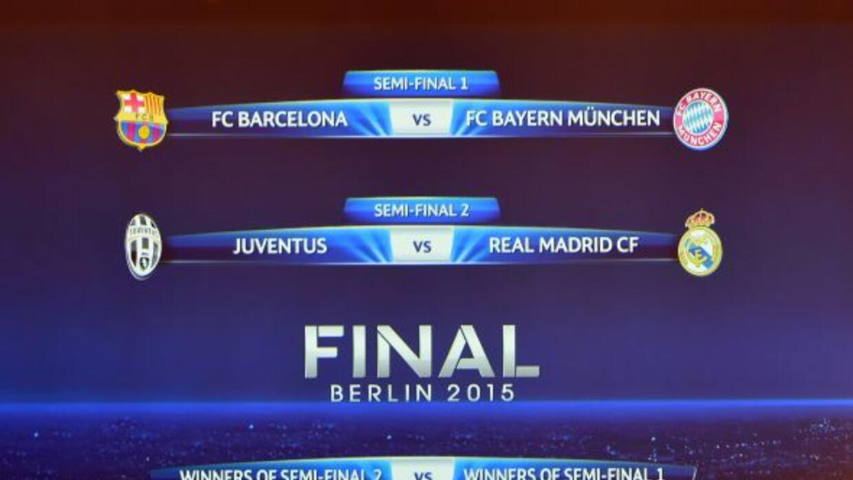 LA suerte emparejó a Barcelona contra Bayern y a Juventus contra Real Ma...