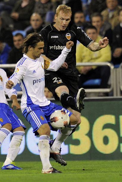 Otro duelo que llamó la atención fue el partido entre Zaragoza y Valencia.