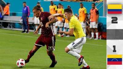 Falcao lideró la remontada de Colombia ante una luchadora Venezuela
