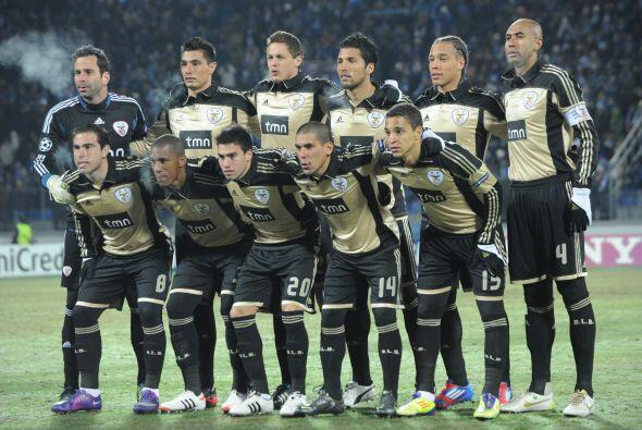 Los visitantes eran los jugadores del Benfica de Portugal.