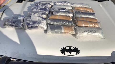 El 'batimóvil' en el que descubrieron 25 libras de 'crystal-meth'.