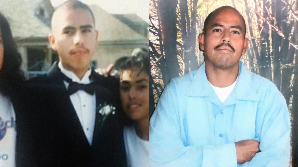 A la izquierda, una foto de David Díaz cuando tenía 18 años, poco antes...