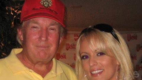 Trump y Stephanie Clifford en una foto de archivo de Myspace.