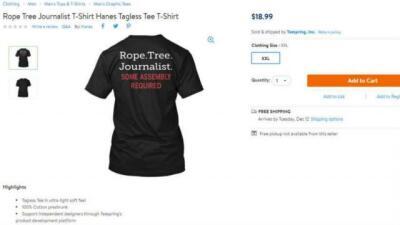 Imagen de la camiseta en venta a través de la plataforma en l&iac...