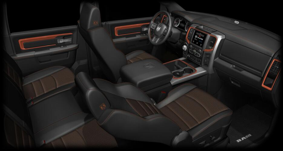 Esta es la Ram 1500 Ingnition Orange Sport 2017 ram-la-auto-show-trucks-...