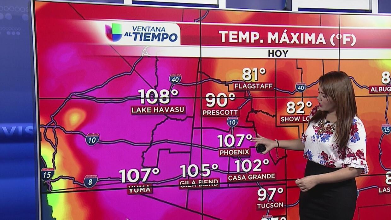 Días muy calurosos y tormentas eléctricas en Arizona