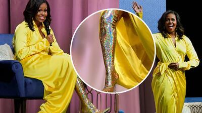 Michelle Obama le roba el show a Sarah Jessica Parker con sus botas de 4,000 dólares