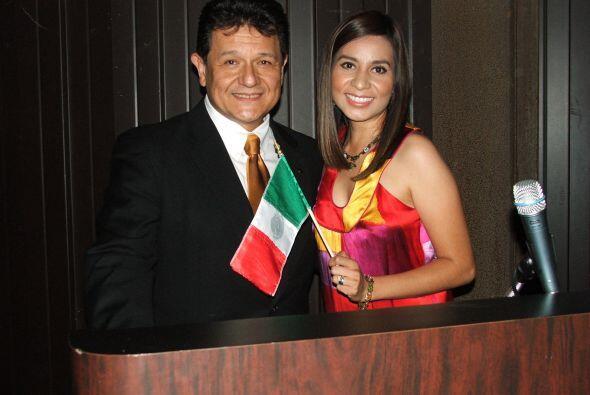 Los maestros de ceremonia fueron en esta ocasión, Mariana Pineda, report...