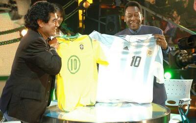 En el 2005 se juntó con Maradona para el show que tenía Di...