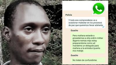 Los WhatsApp entre un policía y el disidente de las FARC buscado por matar al equipo periodístico de Ecuador
