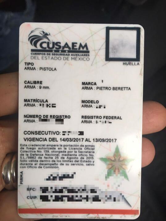 Los guardias de Cusaem tienen armas gracias a una licencia oficial de po...