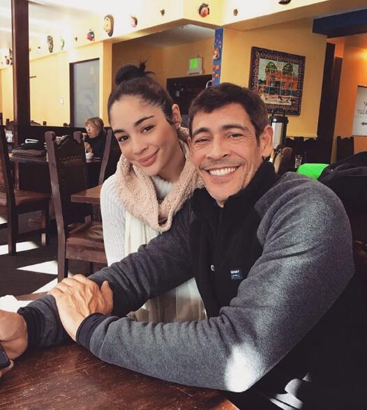 Johnny Lozada y su hija Natalia