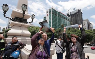 Así se vio el eclipse solar desde la Ciudad de México