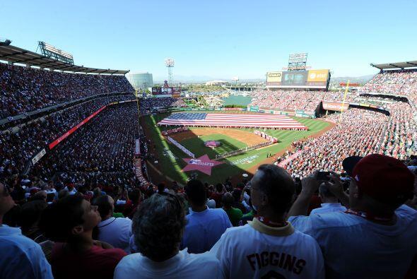 El Angels Stadium de Anaheim, sirvió de marco para el lucimiento de los...