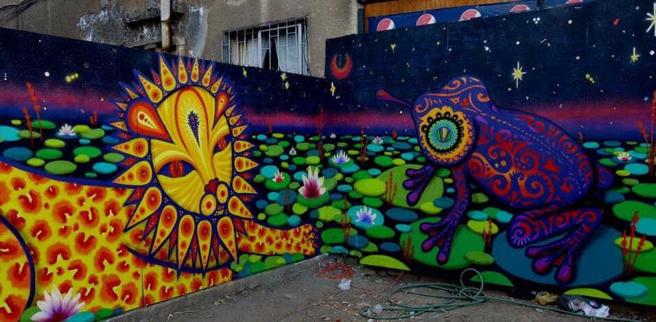 Muralistas chilenas se organizan para tomarse las calles 10974323_620926...