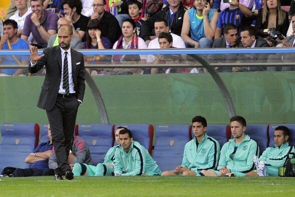 El técnico barcelonista Josep Guardiola no estaba tan tranquilo.