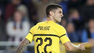 En fotos: Pulisic se vistió de salvador con un gol de 'carambola' para el Dortmund ante el Brujas