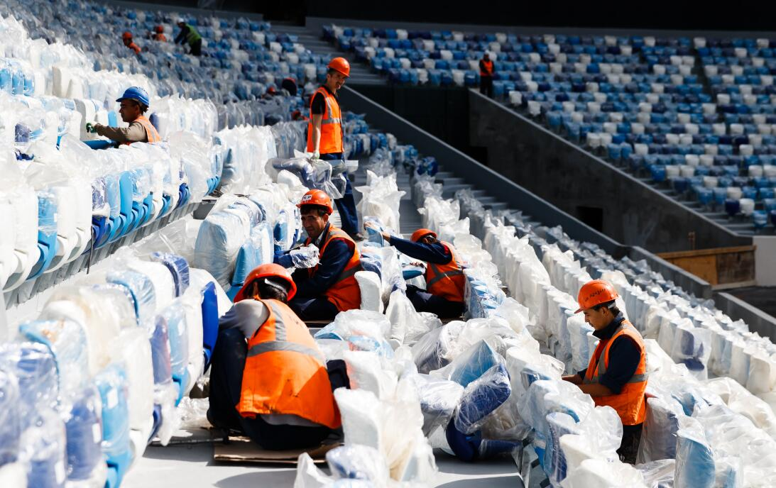 ¿Alcanzarán? Así lucen los estadios de Rusia a menos de un año del comie...