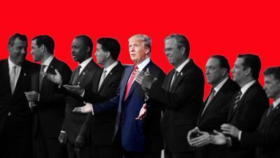 Los candidatos que fue dejando en el camino Donald Trump