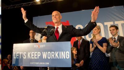Rick Scott ganó la gubernatura de Florida