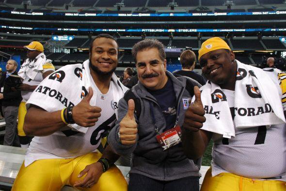 Los Steelers estaban felices con un aficionado de los Raiders, una ironía.