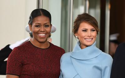 El esperado encuentro de estilo de Michelle Obama y Melania Trump.