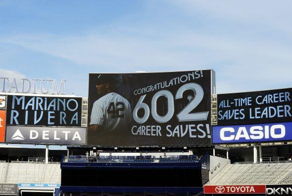 """Rivera es el único lanzador de la historia en conseguir el último """"out""""..."""