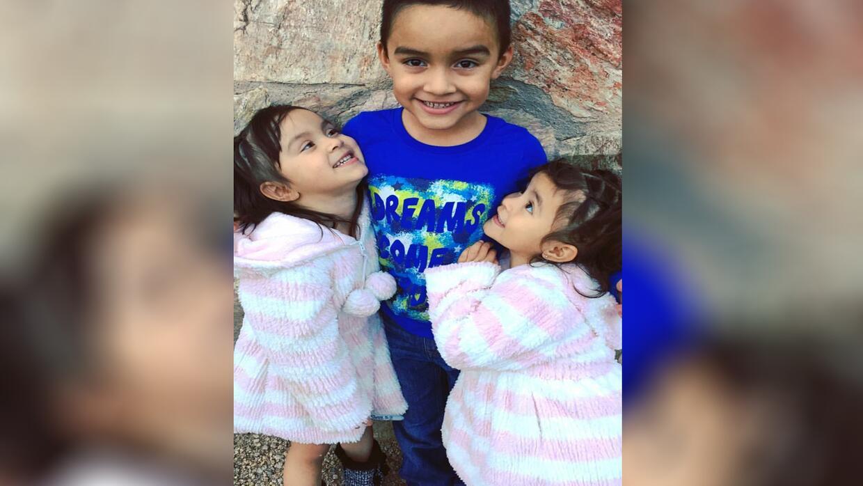 Emily, Mia y Danny, hijos de Héctor Miguel Garnica, víctim...