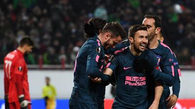 En fotos: Atlético de Madrid clasificó a cuartos de final en Europa League con paliza