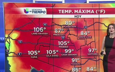 Sábado con condiciones calurosas en Arizona