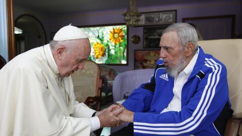 Encuentro con el Papa Francisco en La Habana, 2015.