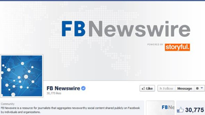 Facebook lanzó su nueva aplicación Newswire.