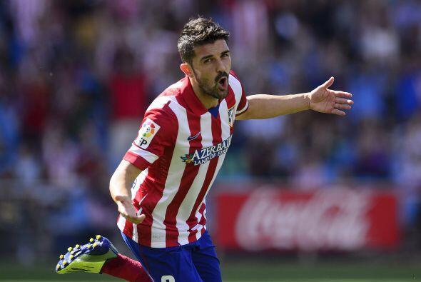 Y David Villa en el Atlético, que se fue del Barcelona en busca de otros...