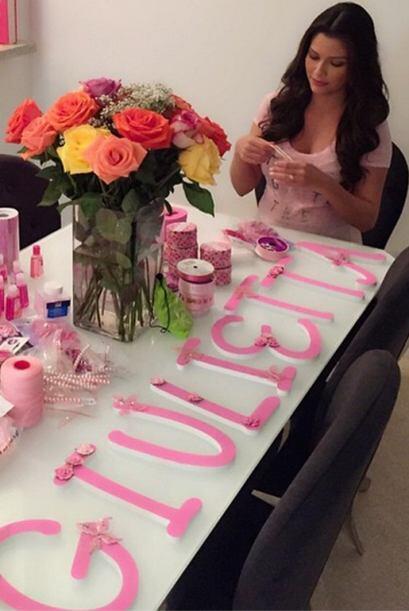 'Proyecto #BabyShowerGiulietta haciendo con amor y dedicación recuerdos...