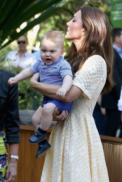En abril el pequeño George visitó el Taronga Zoo en Sídney.