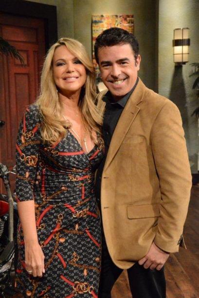 Gabriel y una de sus actrices favoritas.