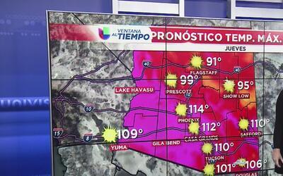 Sigue aumentando la temperatura, llegando casi a niveles récord