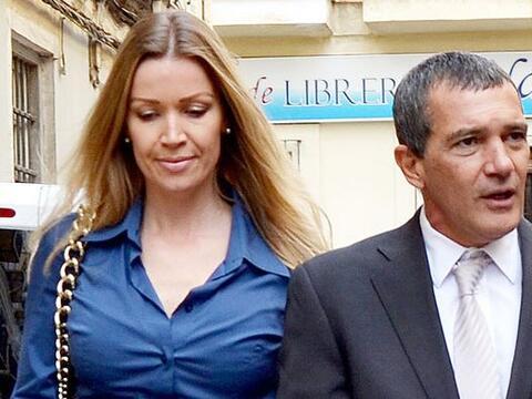 Mira cómo vimos a Antonio Banderas con su nueva chica.