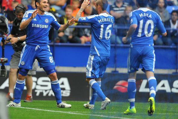 Y Lampard volvió a marcar para completar su 'triplete'.