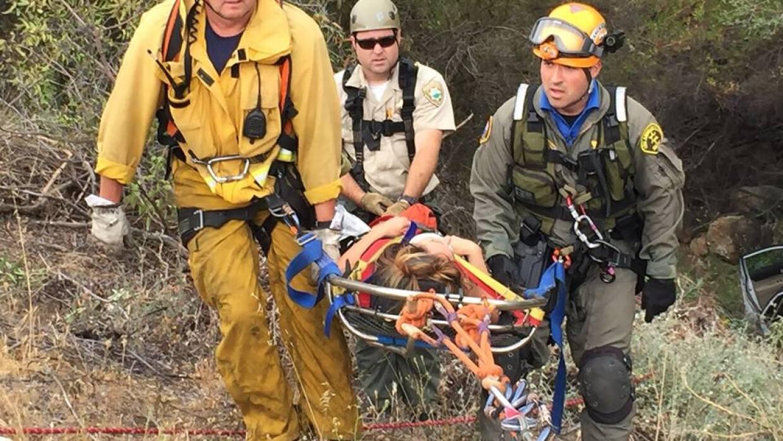 Jenifer Duron se encontraba consciente al momento del rescate.