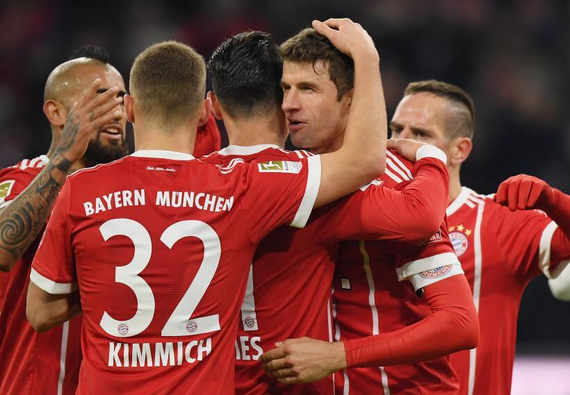 Thomas Müller y Robert Lewandowski fueron quienes anotaron los gole...