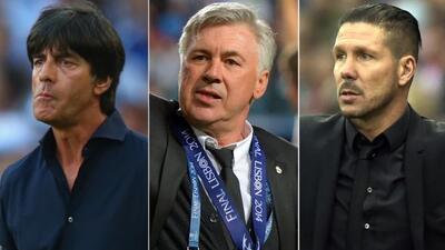 Como era de esperarse,Ancelotti, Loew y Simeone son los finalistas al p...
